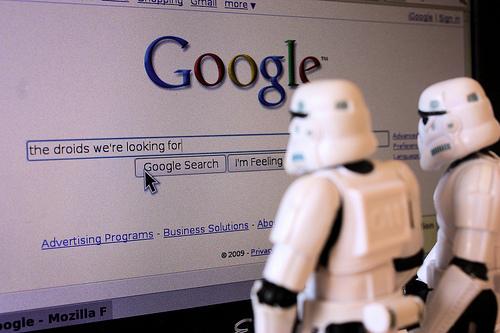 Stormtroopers buscando en Google