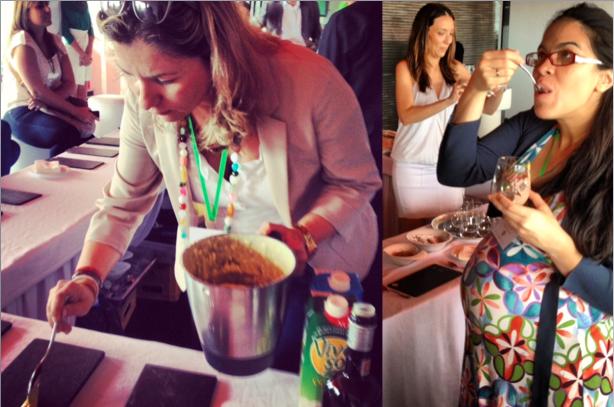 Blogueras comiendo